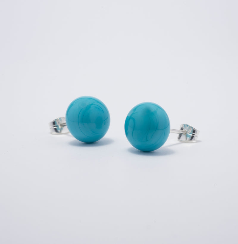 Pompom Earrings Light Ocean