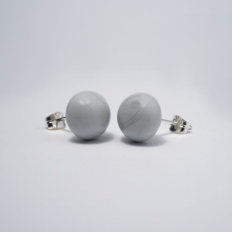 Pompom Earrings Grey