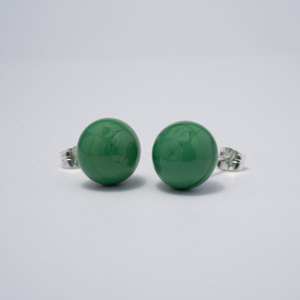 Pompom Earrings Green