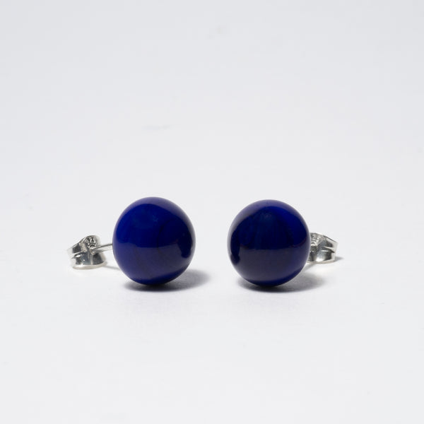 Pompom Earrings Kobold Blue Op