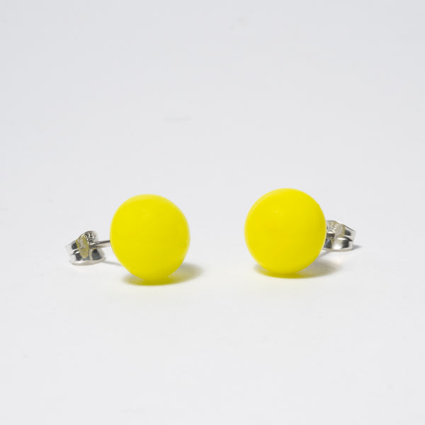 Pompom Earrings Lemon