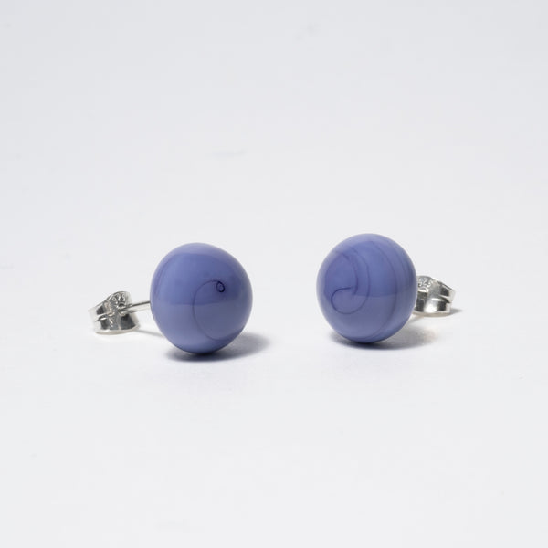 Pompom Earrings Mystic Violet