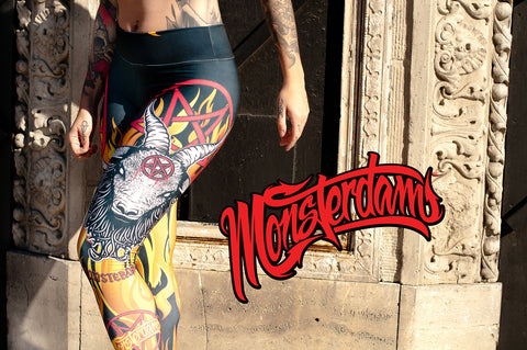 Fitness Leggings Baphomet