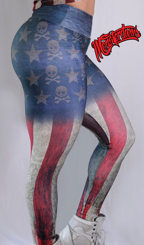 Leggings GRUNGE USA Flag.