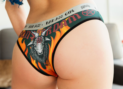 Panty Baphomet in Flames