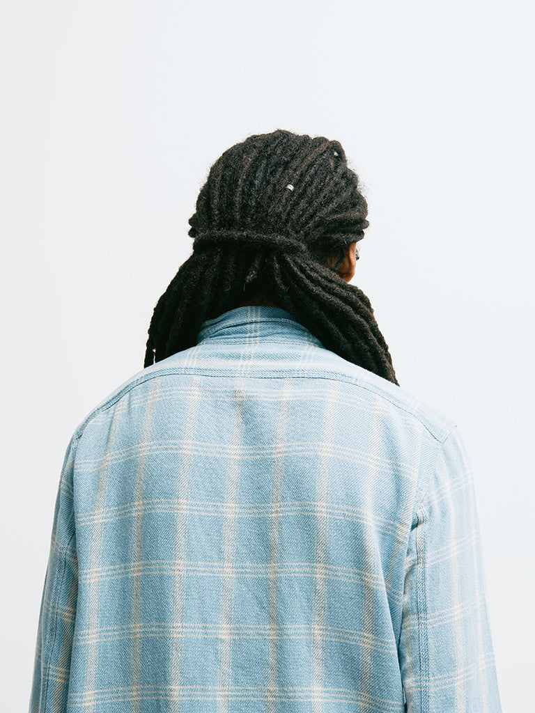 Alex Mill Indigo Patch and Flap Flannel Shirt - GENTRY NYC - 4