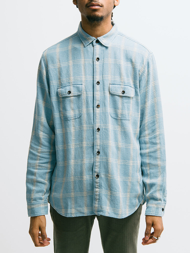 Alex Mill Indigo Patch and Flap Flannel Shirt - GENTRY NYC - 6
