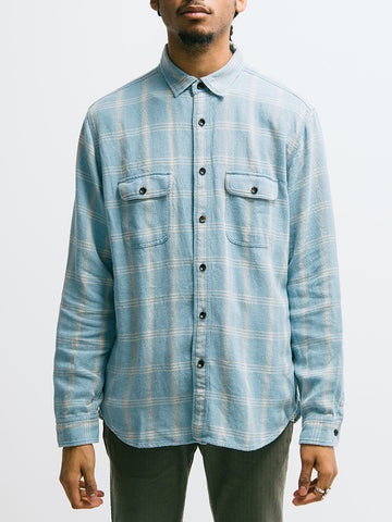 Alex Mill Indigo Patch and Flap Flannel Shirt - GENTRY NYC - 1