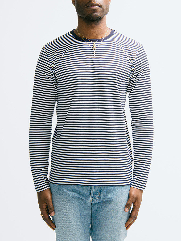 Sunspel Long Sleeve Crew Neck - GENTRY NYC - 6
