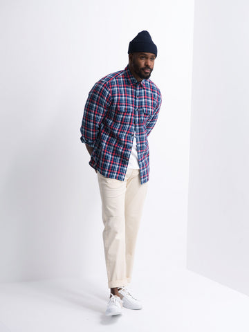 Indigo Lightweight Flannel Shirt