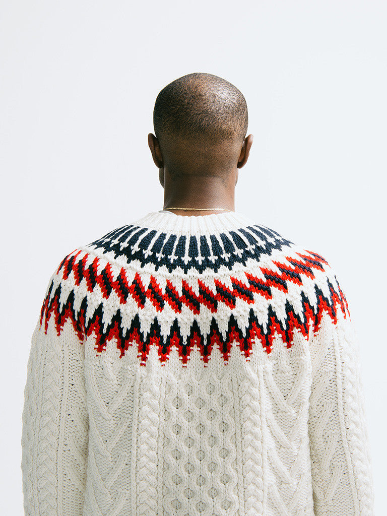 Tomorrowland K-Cord Hand Knitted Pullover - GENTRY NYC - 5