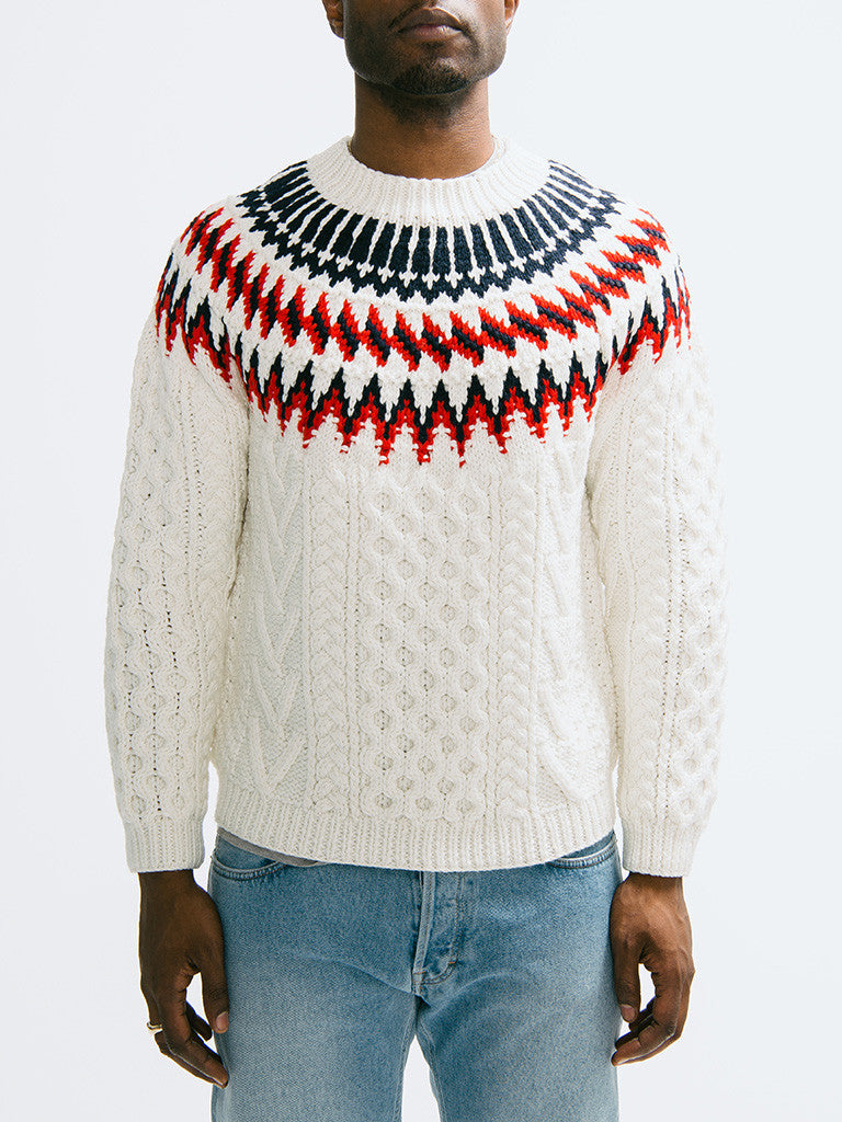 Tomorrowland K-Cord Hand Knitted Pullover - GENTRY NYC - 6