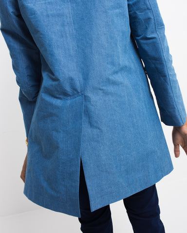 Indigo Cotton Weather Single Coat