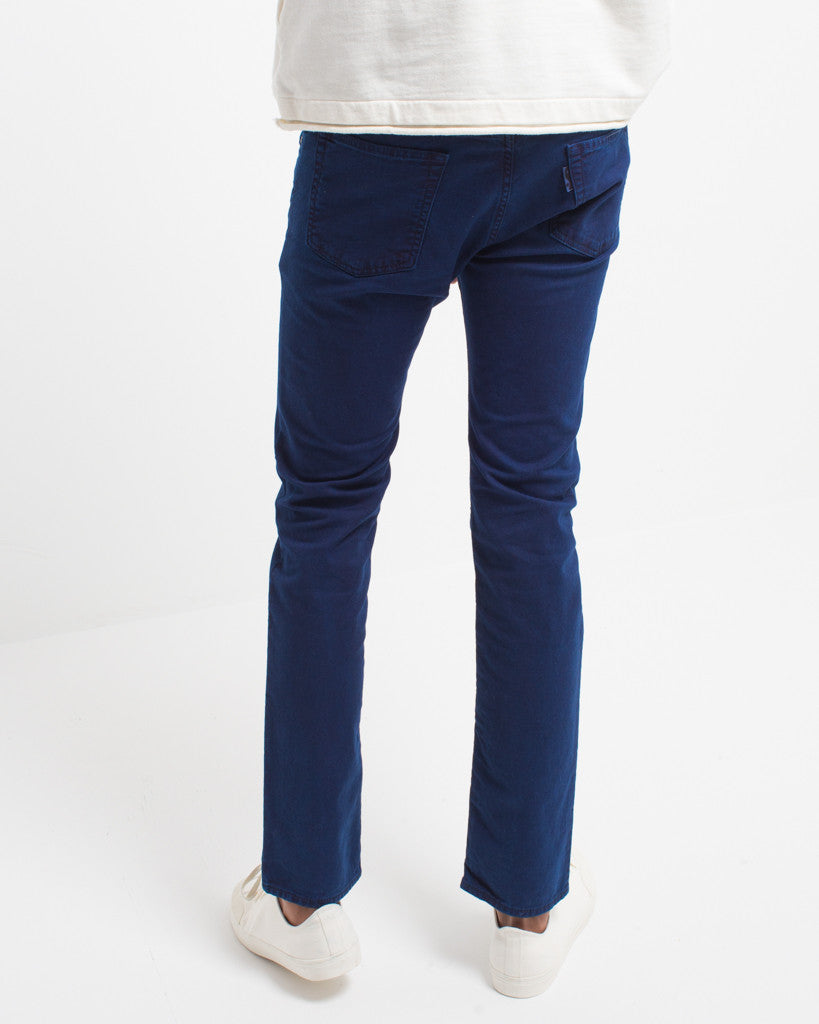 Cotton Stretch Twill Hand Dyed Jeans