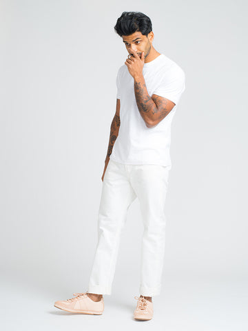 Alex Mill STANDARD SHORT SLEEVE TEE-WHITE - GENTRY NYC - 1