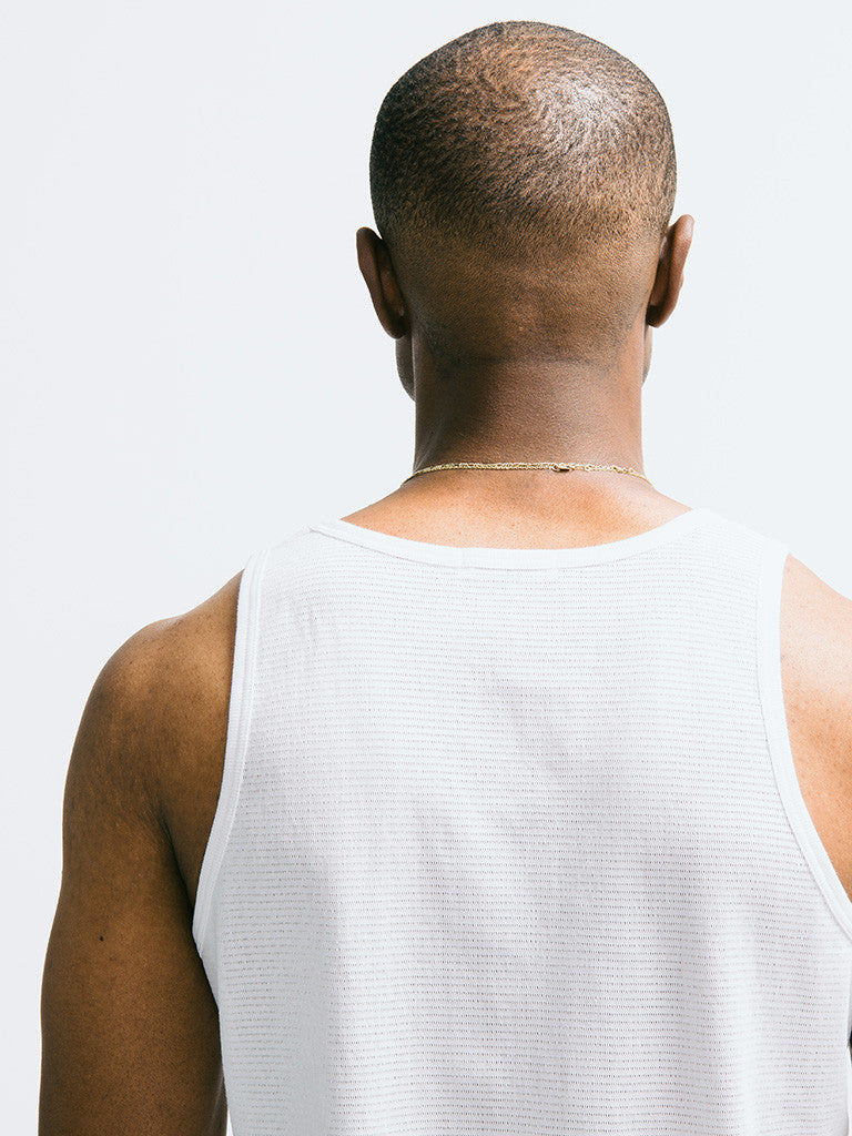 Sunspel Cellular Cotton Vest - GENTRY NYC - 5