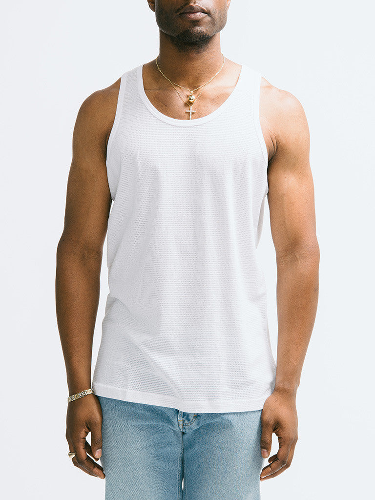 Sunspel Cellular Cotton Vest - GENTRY NYC - 6