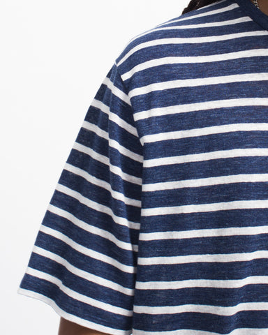 Striped Délavé Linen Tee