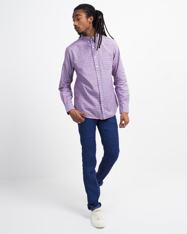 Madras Check Button Down