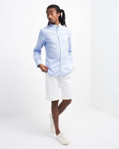 Cotton Linen Check Button Down
