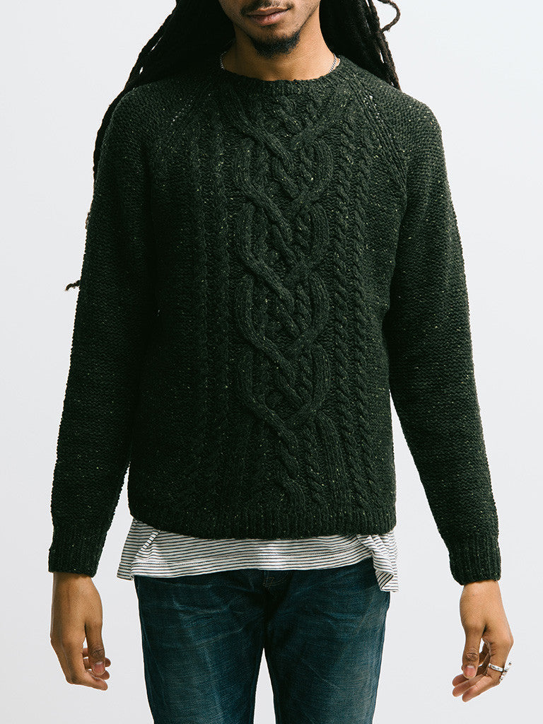 Alex Mill Wool Donegal Cable Crew - GENTRY NYC - 4