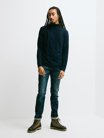 Alex Mill Indigo Turtle Neck - GENTRY NYC - 1