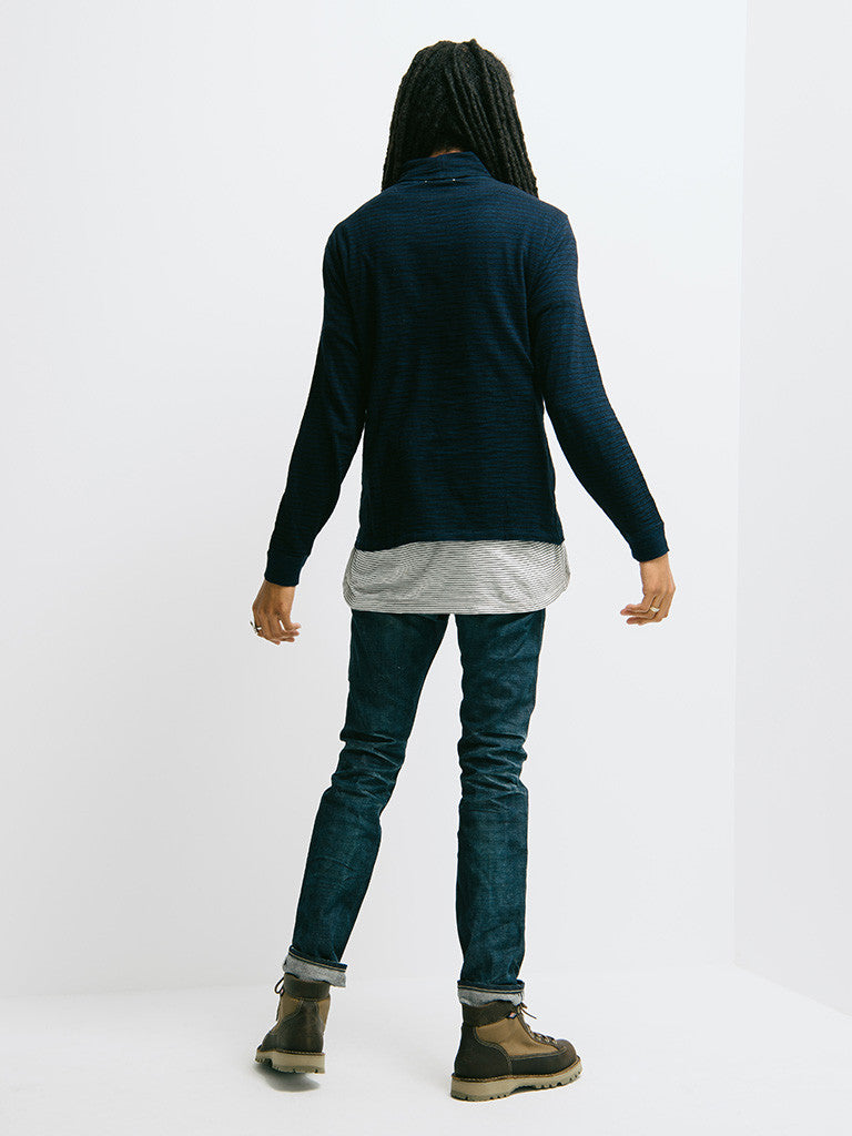 Alex Mill Indigo Turtle Neck - GENTRY NYC - 3