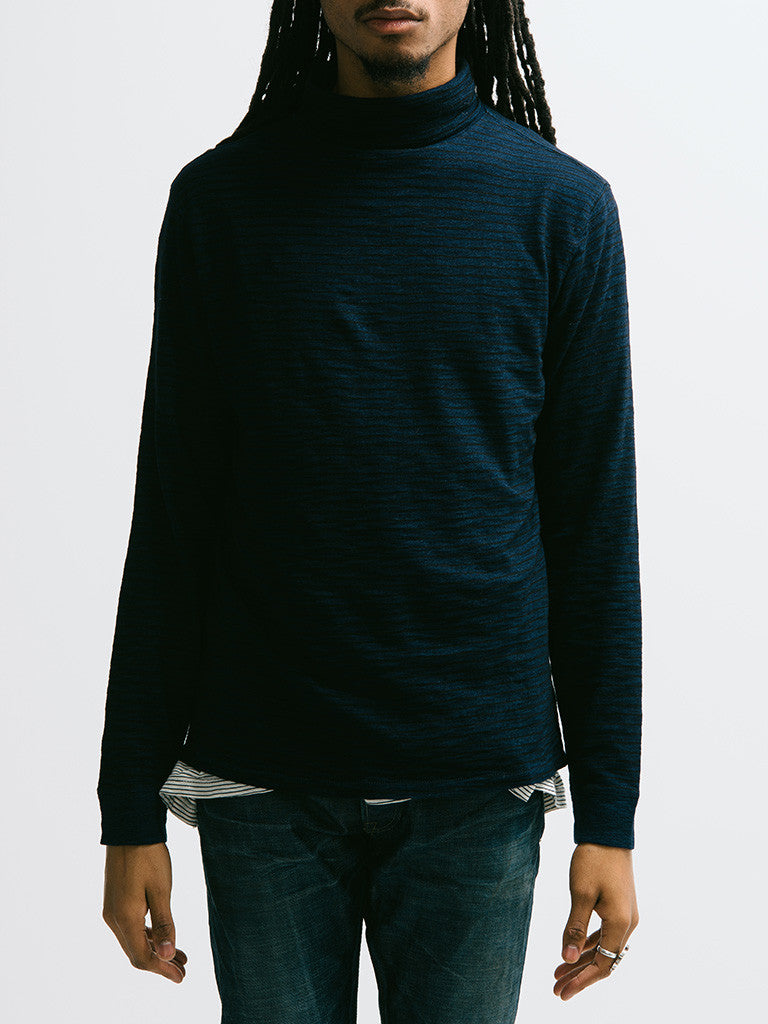 Alex Mill Indigo Turtle Neck - GENTRY NYC - 4