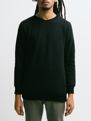 Blue Blue Crepe Knit Crewneck Sweatshirt - GENTRY NYC - 1