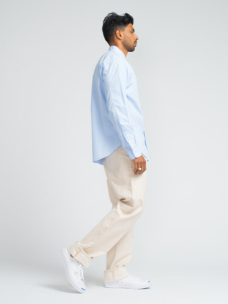 Alex Mill END ON END SCHOOL SHIRT - BLUE - GENTRY NYC - 2