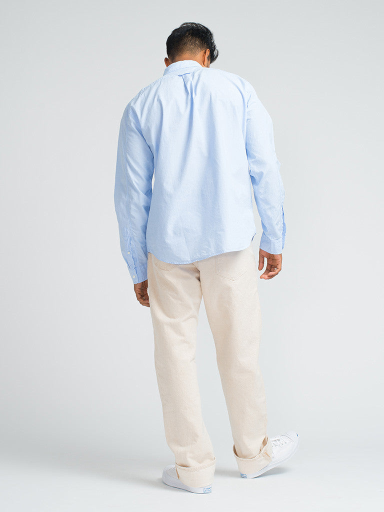 Alex Mill END ON END SCHOOL SHIRT - BLUE - GENTRY NYC - 3