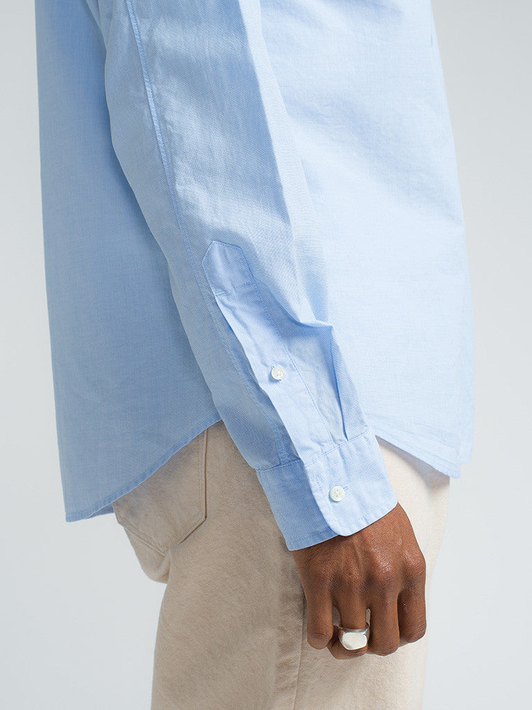 Alex Mill END ON END SCHOOL SHIRT - BLUE - GENTRY NYC - 4