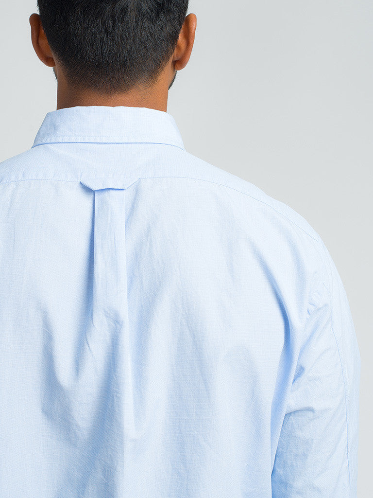 Alex Mill END ON END SCHOOL SHIRT - BLUE - GENTRY NYC - 5