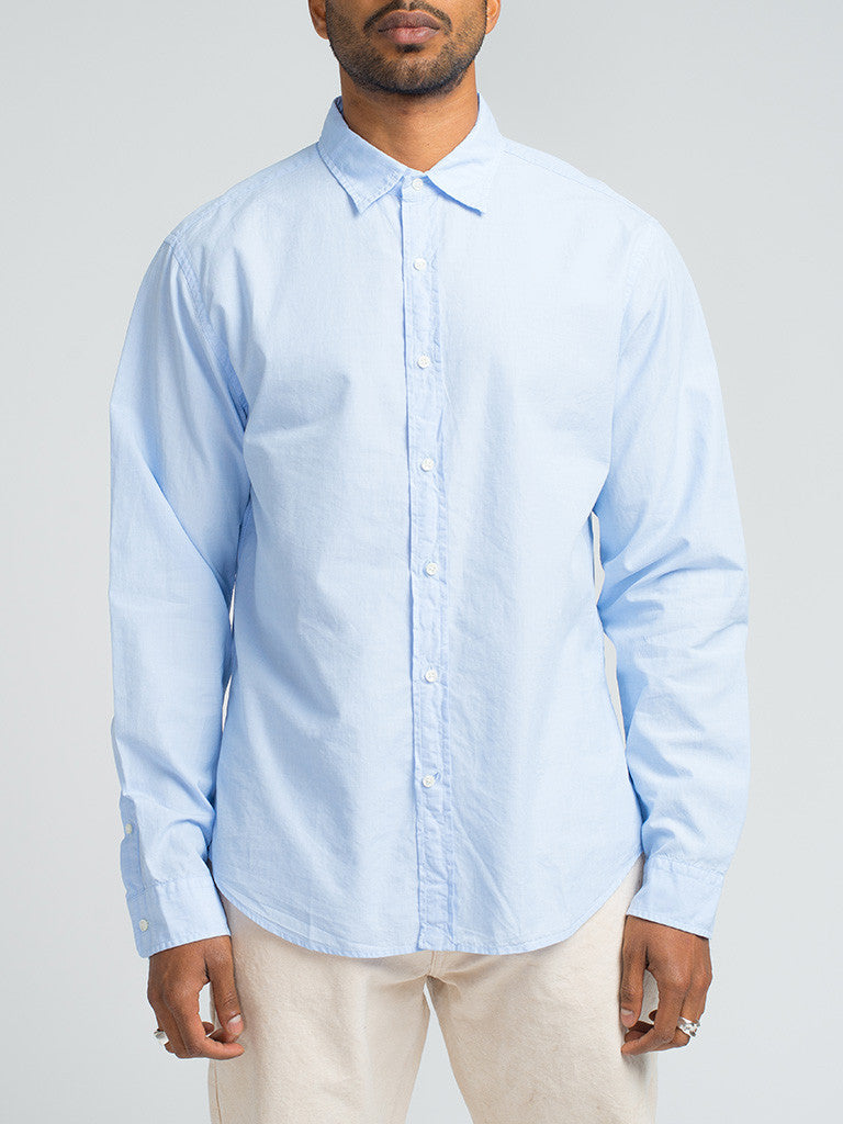 Alex Mill END ON END SCHOOL SHIRT - BLUE - GENTRY NYC - 6