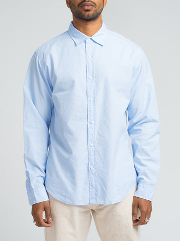 Alex Mill END ON END SCHOOL SHIRT - BLUE - GENTRY NYC - 1