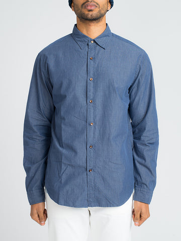 Alex Mill END ON END SCHOOL SHIRT-NAVY - GENTRY NYC - 1