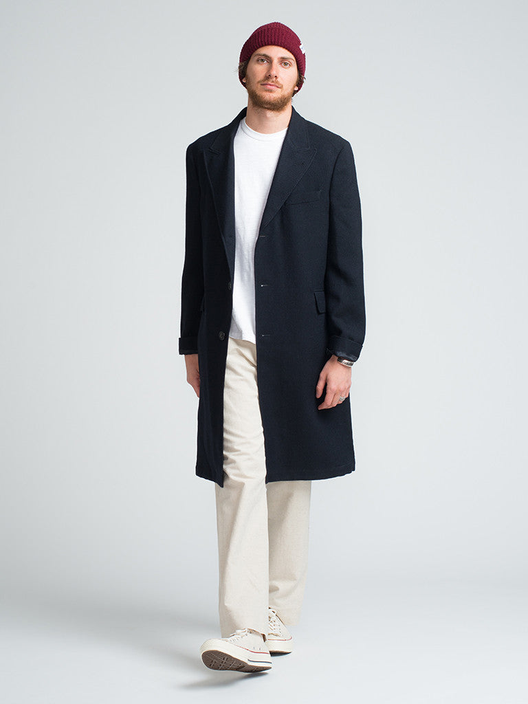 Golden Bear LORO-PIANA-LUXE-WOOL-TOPCOAT-NAVY - GENTRY NYC - 1
