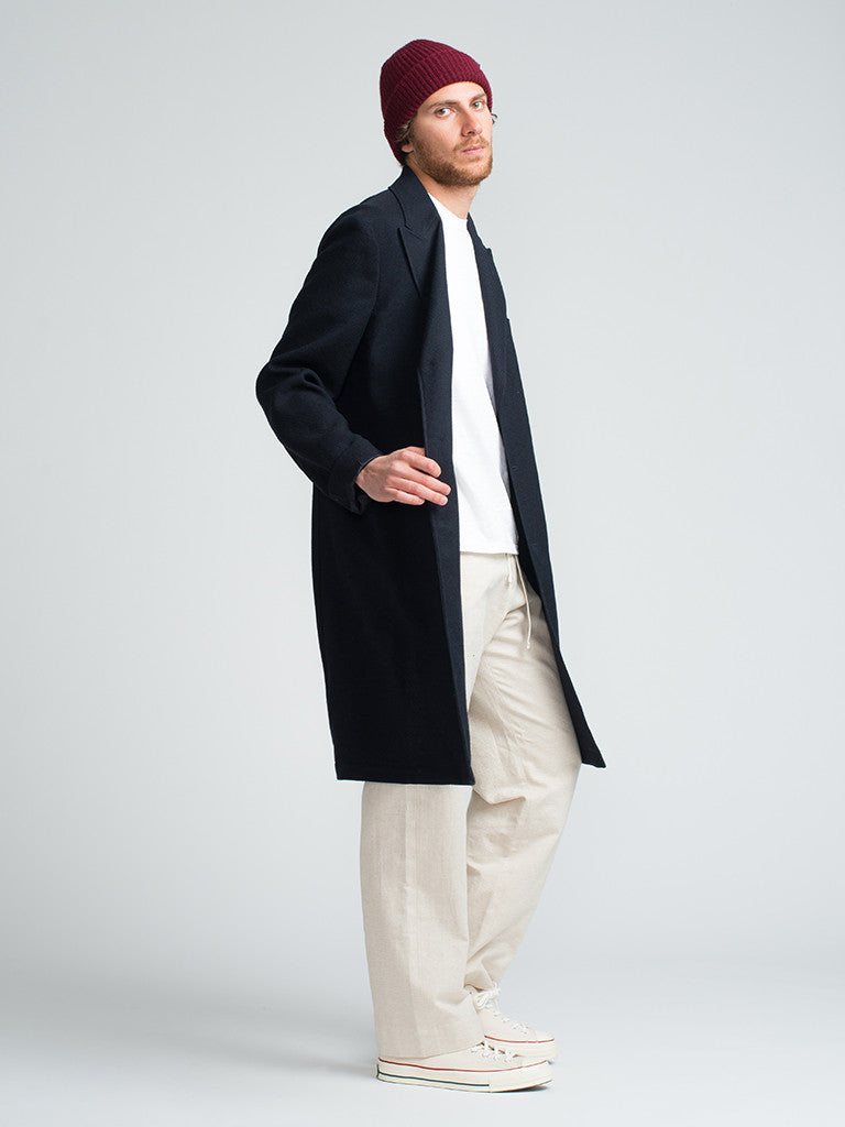 Golden Bear LORO-PIANA-LUXE-WOOL-TOPCOAT-NAVY - GENTRY NYC - 2