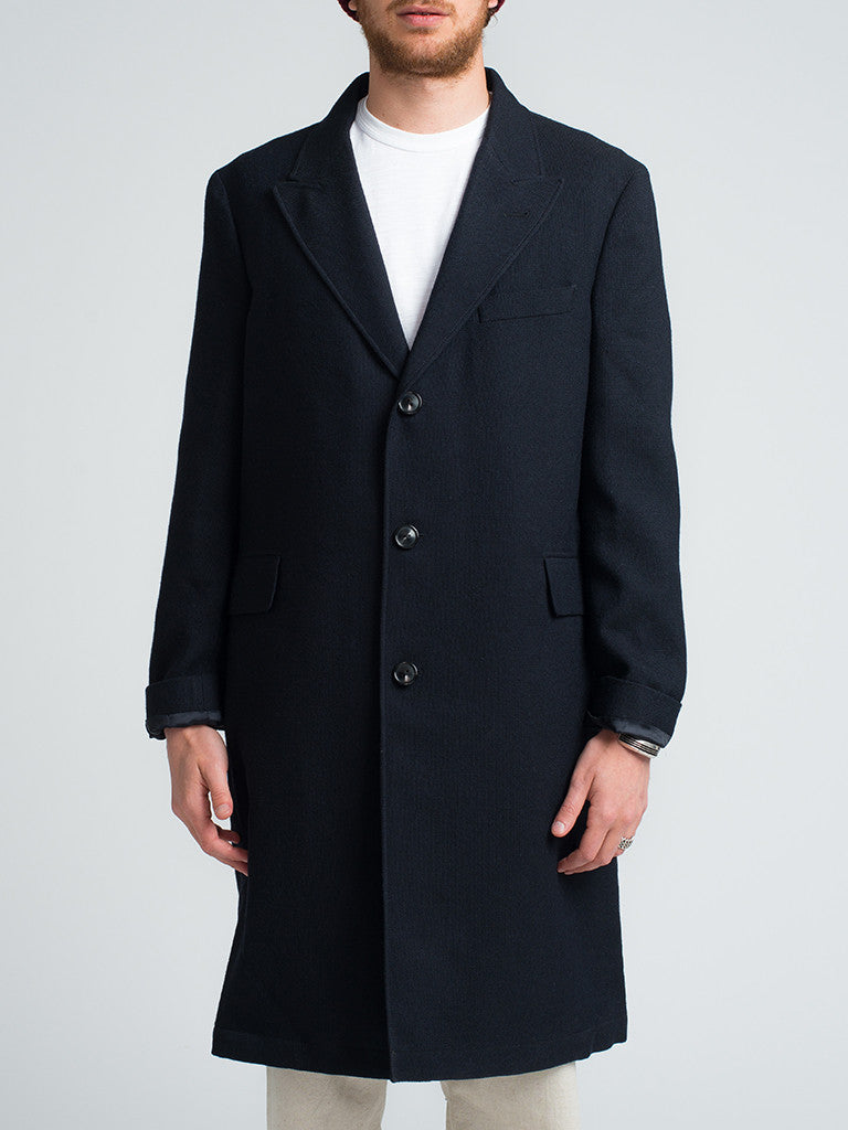 Golden Bear LORO-PIANA-LUXE-WOOL-TOPCOAT-NAVY - GENTRY NYC - 6