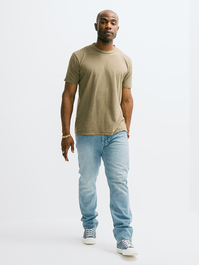 Velva Sheen Rolled Short Sleeve Regular Tee - GENTRY NYC - 1