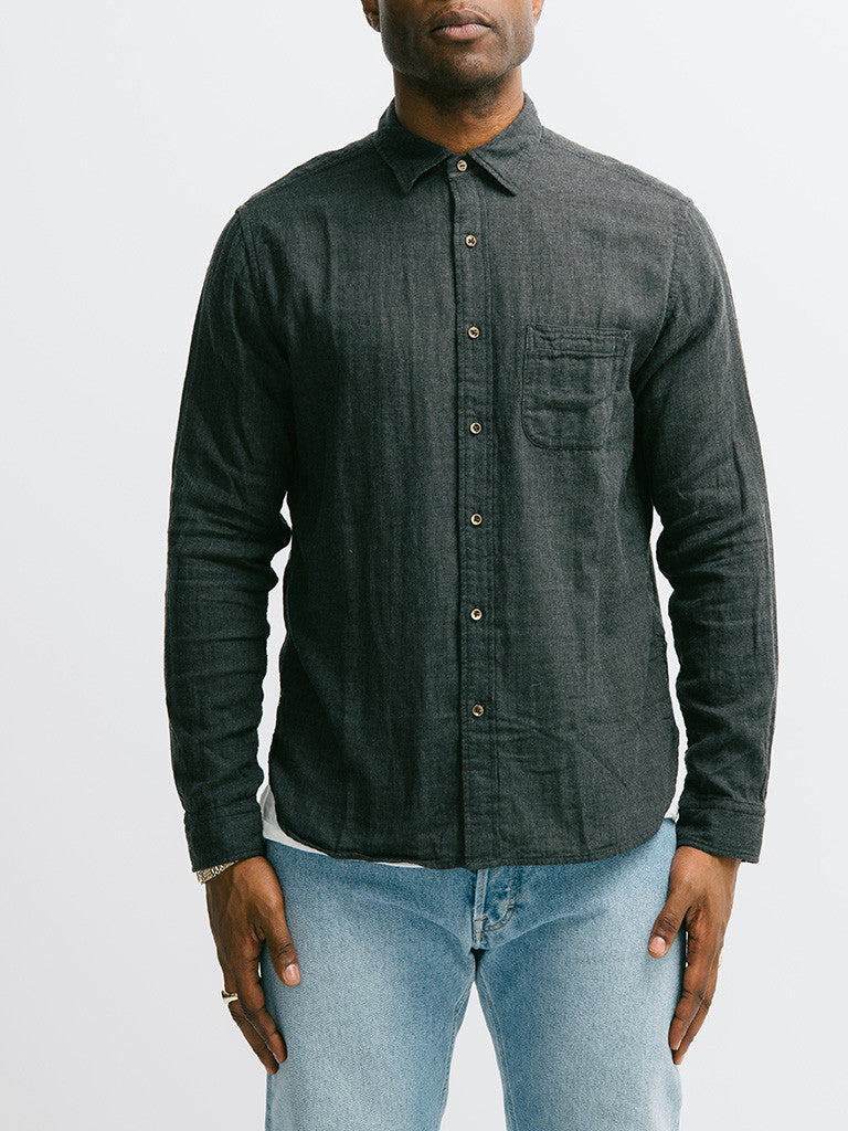 Alex Mill Solid Heather Double Gauze Shirt - GENTRY NYC - 5