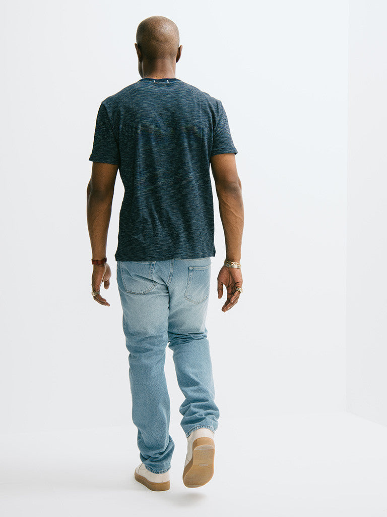 Alex Mill Indigo Short Sleeve Pocket Crew - GENTRY NYC - 3