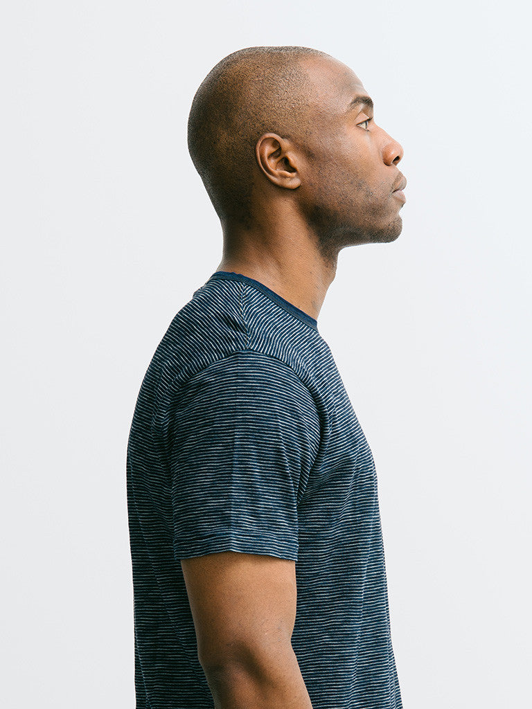 Alex Mill Indigo Short Sleeve Pocket Crew - GENTRY NYC - 4