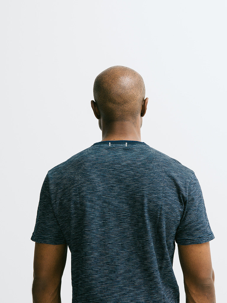 Alex Mill Indigo Short Sleeve Pocket Crew - GENTRY NYC - 5