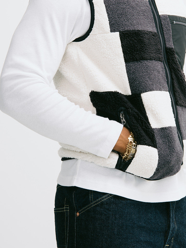 Ganryu Comme des Garçons Quilted Patchwork Vest - GENTRY NYC - 5
