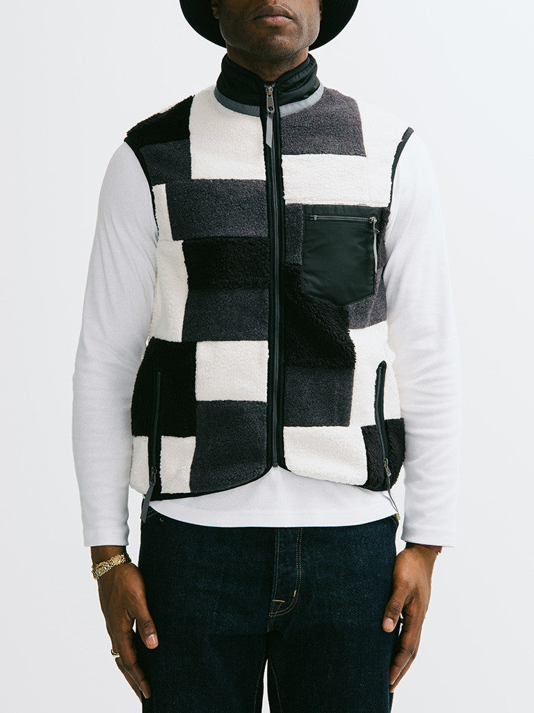 Ganryu Comme des Garçons Quilted Patchwork Vest - GENTRY NYC - 6
