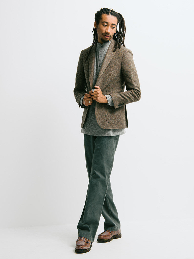 Lardini Deconstructed Herringbone Jacket - GENTRY NYC - 1