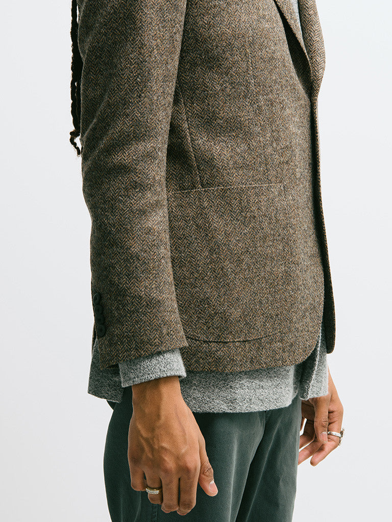 Lardini Deconstructed Herringbone Jacket - GENTRY NYC - 3