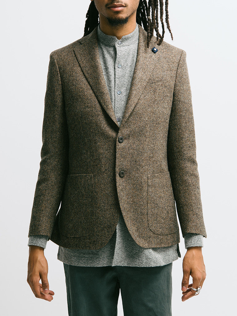 Lardini Deconstructed Herringbone Jacket - GENTRY NYC - 4