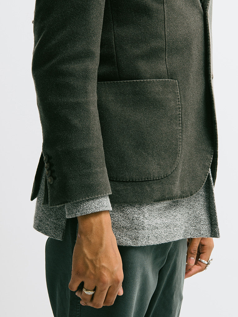 Lardini Deconstructed Garment Dyed Cashmere Jacket - GENTRY NYC - 4